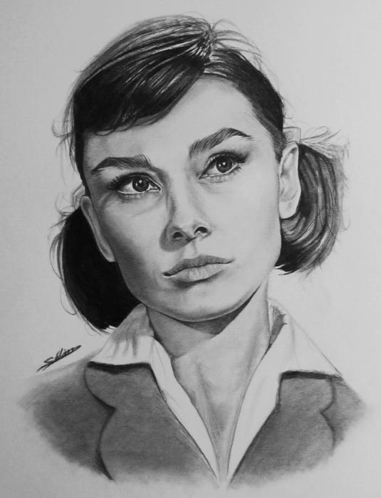 Audrey Hepburn by selimiles